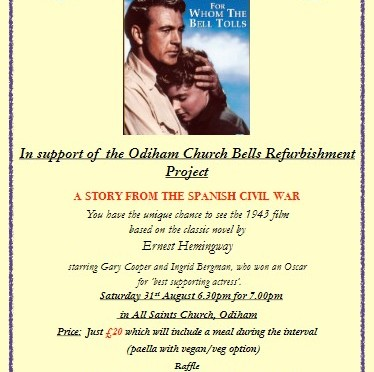 For Whom The Bell Tolls – Fundraising for Odiham Bells – Saturday 31st August