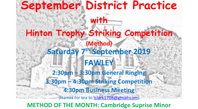 September District Practice, Meeting and Hinton Trophy Striking Competition 07.09.2019 Fawley.