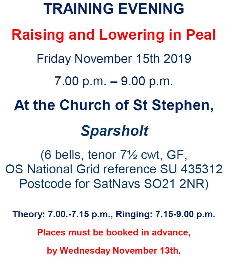 20191115 - WIN Training Evening - Sparsholt