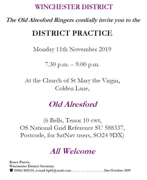 20191111 - Win District Practice - Old Alreasford