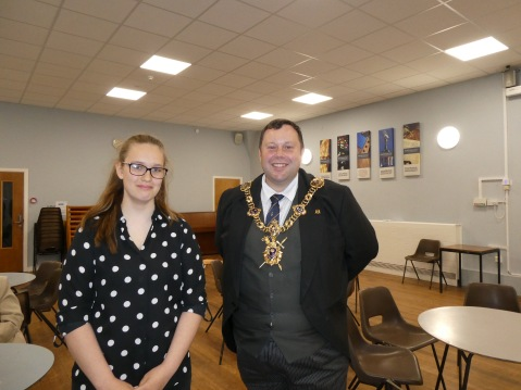 Charlotte Mossop and Lee Mason, Lord Mayor of Portsmouth