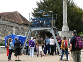 The Charmborough ring outside Winchester Cathedral